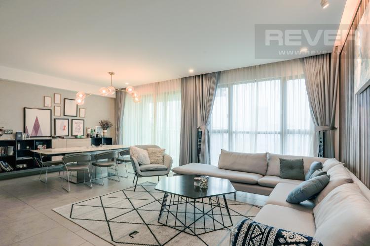 Phòng Khách Căn hộ Riviera Point 3PN nội thất đầy đủ, có thể dọn vào ở ngay
