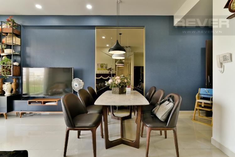 bàn ăn Căn hộ THE SUN AVENUE Cho thuê căn hộ The Sun Avenue tầng thấp, block 3, diện tích 89.7m2 - 3 phòng ngủ, đầy đủ nội thất