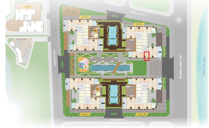 Mặt Bằng căn hộ Q7 Saigon Riverside Bán căn hộ Q7 Saigon Riverside, 1 phòng ngủ, diện tích 53.2m2, chưa bàn giao