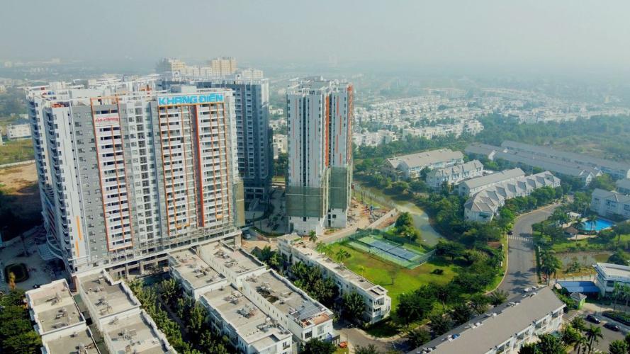 View tổng thể Cho thuê căn hộ Safira Khang Điền đầy đủ nội thất, view nội khu.