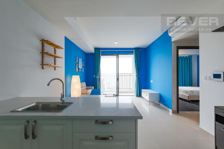 Phòng Bếp Căn hộ The Tresor tầng cao 2PN đầy đủ nội thất, có ban công