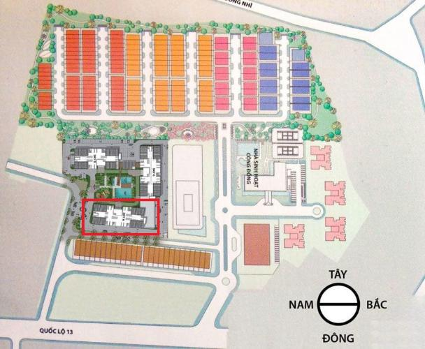 layout tổng quan Eco Xuân Căn hộ Eco Xuân tầng 12B cửa hướng Tây Bắc, thiết kế hiện đại