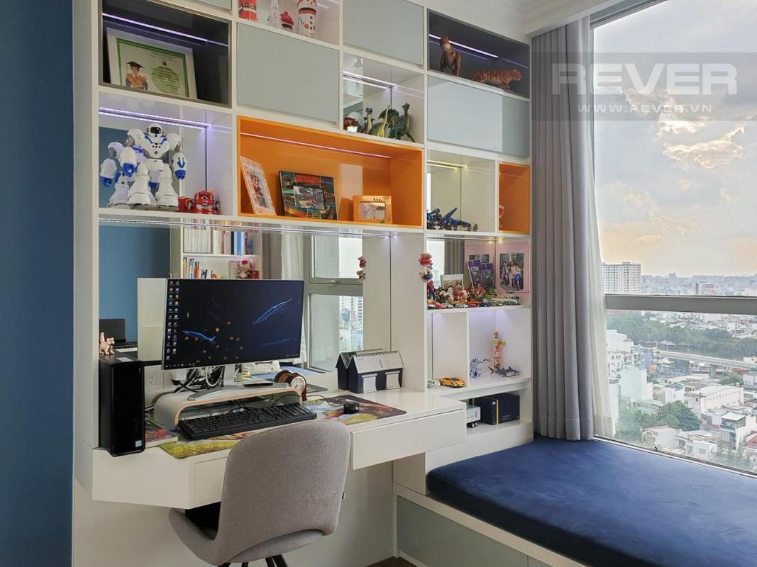 Phòng Ngủ  Cho thuê căn hộ Vinhomes Central Park 3PN, tầng thấp, đầy đủ nội thất, view thành phố