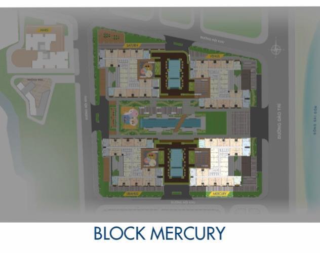 Block Mercury Căn hộ Q7 Saigon Riverside tầng cao, ban công hướng Bắc.