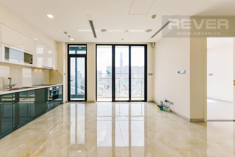 Phòng Khách Officetel Vinhomes Golden River 2 phòng ngủ tầng trung A4 hướng Đông Bắc