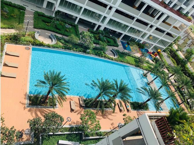 View Lux Garden Quận 7 Căn hộ Lux Garden tầng trung, view nội khu hồ bơi.
