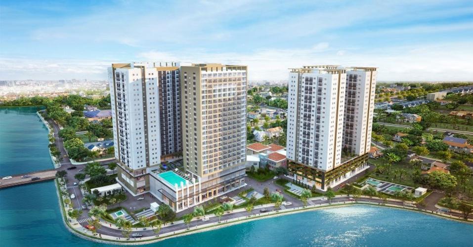 Bán căn hộ Richmond City tầng trung, 2 phòng ngủ, diện tích 66.78m2, nội thất cơ bản
