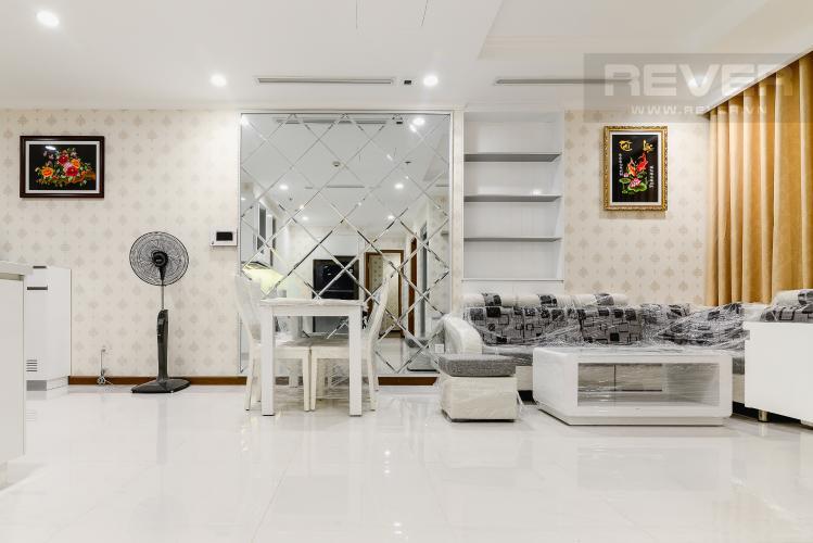 Phòng Khách & P.Ăn Căn hộ Vinhomes Central Park 2 phòng ngủ tầng trung L5 đầy đủ nội thất