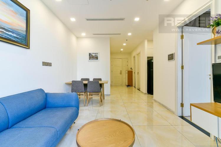 Bán hoặc cho thuê officetel Vinhomes Golden River 2PN, diện tích 68m2, đầy đủ nội thất, hướng ban công Tây Nam