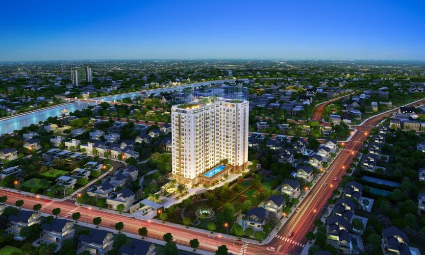 Chung cư  Saigon Asiana, Quận 6 Căn hộ tầng 5 chung cư Saigon Asiana nội thất cơ bản, view thoáng mát.