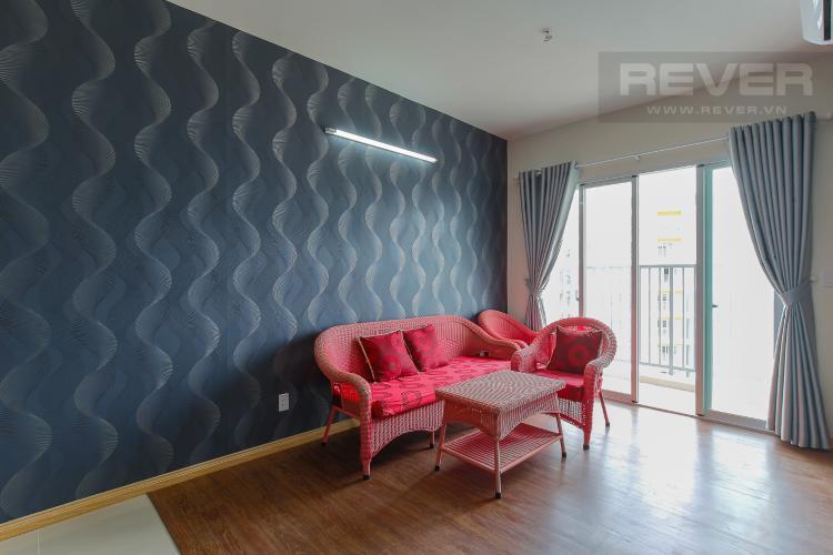 Phòng Khách Căn hộ Jamona City 2 phòng ngủ tầng cao M4 đầy đủ nội thất