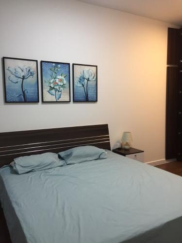 Phòng ngủ căn hộ Sunrise Riverside Căn hộ Sunrise Riverside 3 phòng ngủ, đầy đủ nội thất.