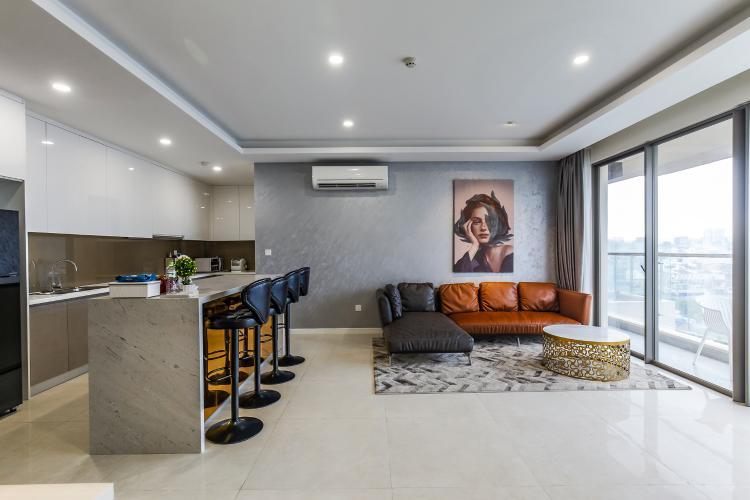 Cho thuê căn hộ Masteri Millennium 3PN, diện tích 107m2, đầy đủ nội thất, view Bitexco