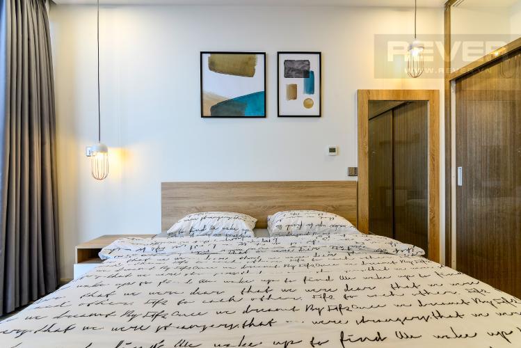 Phòng Ngủ Cho thuê căn hộ Vinhomes Golden River 1PN, tầng cao tháp The Aqua 1, đầy đủ nội thất, view sông tuyệt đẹp