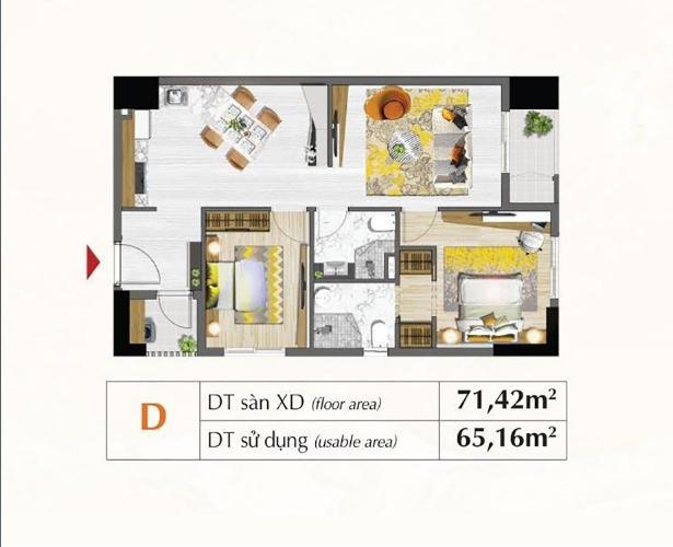 Căn hộ Saigon South Residences tầng 9 không có nội thất, 2 phòng ngủ.