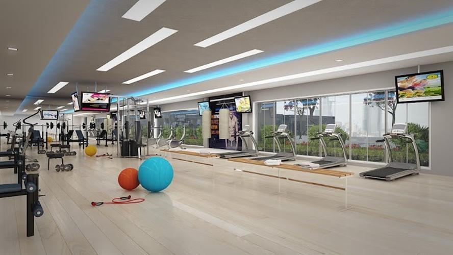 Phòng gym The Gold View, Quận 4 Căn hộ The Gold View nội thất cơ bản, đón view hồ bơi yên tĩnh.