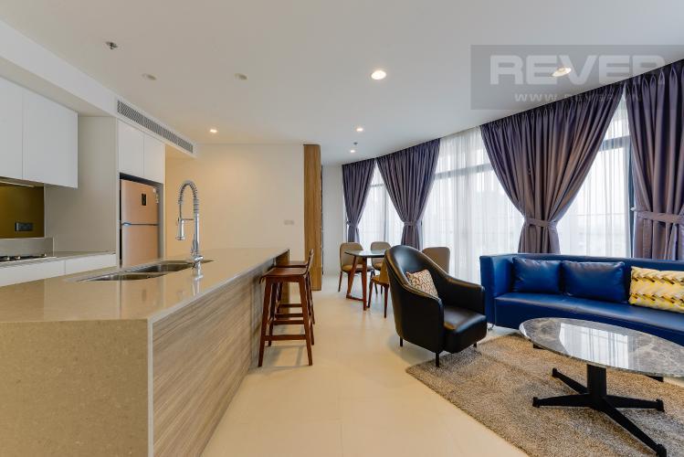 Phòng khách Căn hộ City Garden tầng cao, 2PN đầy đủ nội thất, view đẹp