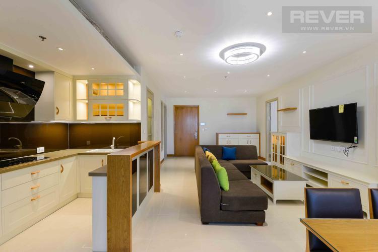Phòng Khách Cho thuê căn hộ Diamond Island - Đảo Kim Cương 2PN, tháp Brilliant, đầy đủ nội thất, view trực diện sông.