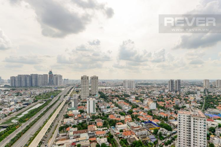 view Căn hộ Masteri Thảo Điền tầng cao T1 view về sông và khu Thảo Điền