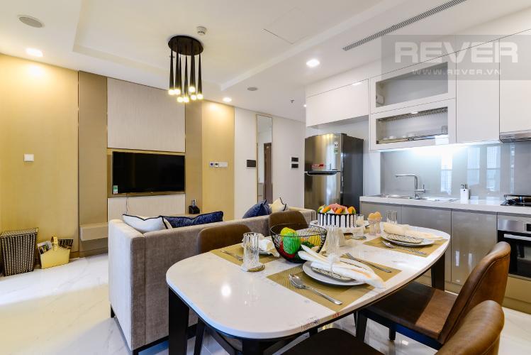 Phòng Ăn Căn hộ Vinhomes Central Park tầng trung, tháp Landmark 81, 1PN đầy đủ nội thất