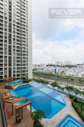 View Căn hộ The Gold View tầng thấp, tháp A2, 2 phòng ngủ, view hồ bơi