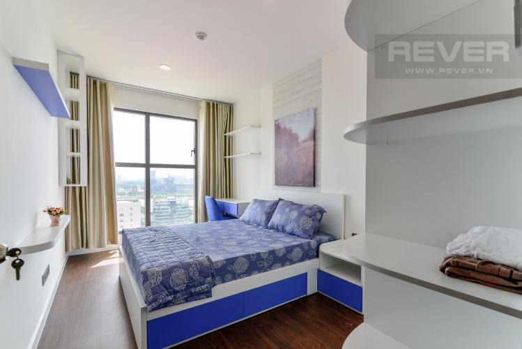 Phòng Ngủ 1 Cho thuê căn hộ Saigon Royal 2PN, tháp A, đầy đủ nội thất, view Bitexco và sông Sài Gòn