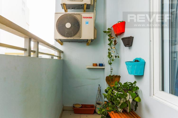 Ban Công Căn hộ Him Lam Riverside 2 phòng ngủ tầng trung nội thất đầy đủ
