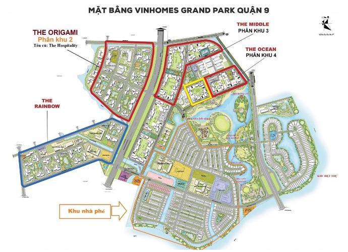Mặt bằng dự án căn hộ Vinhomes Grand Park Bán căn hộ 2 phòng ngủ Vinhomes Grand Park tầng trung, diện tích sàn 59.1m2, nội thất cơ bản