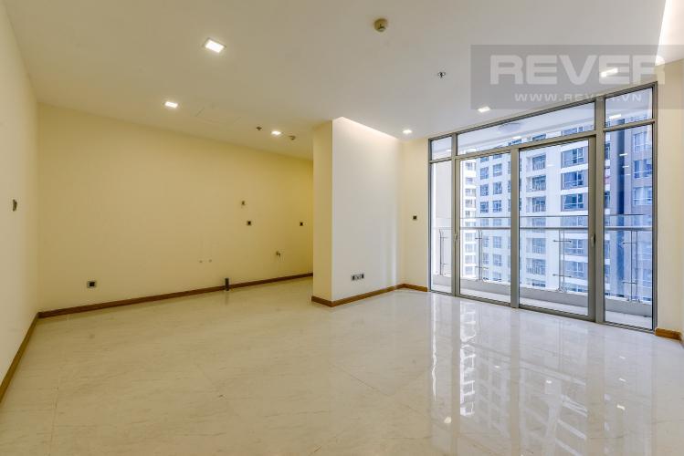 Phòng khách Căn hộ Vinhomes Central Park 2 phòng ngủ tầng cao P7 nhà trống