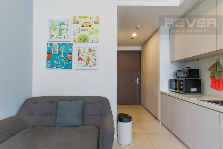 Phòng Khách Bán căn hộ The Tresor 1PN 1WC, đầy đủ nội thất, view hồ bơi