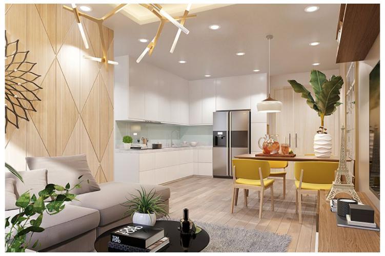 Phối cảnh căn hộ Topaz Elite Căn hộ Topaz Elite tầng cao, bàn giao không kèm nội thất.