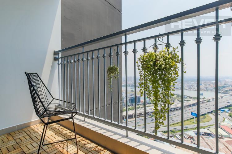 Balcony Bán căn hộ Vinhomes Central Park 2PN, tầng cao, nội thất đầy đủ, view sông thoáng mát
