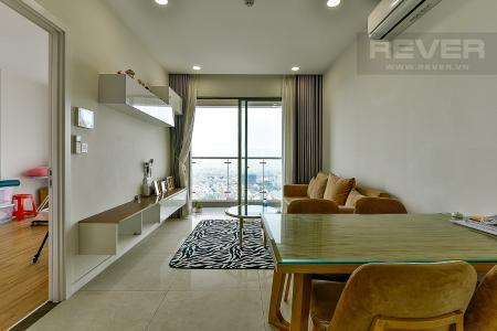 Bán căn hộ Masteri Millennium 2PN, tầng cao, đầy đủ nội thất, ban công hướng Nam