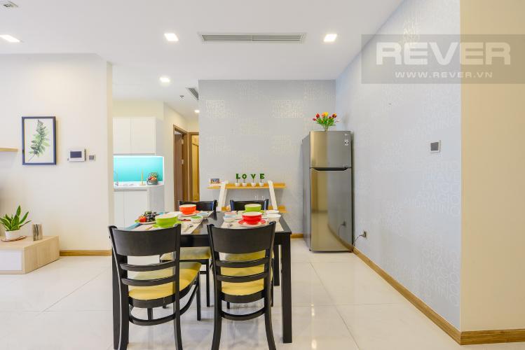 Bàn ăn Cho thuê căn hộ Vinhomes Central Park 2PN đầy đủ nội thất