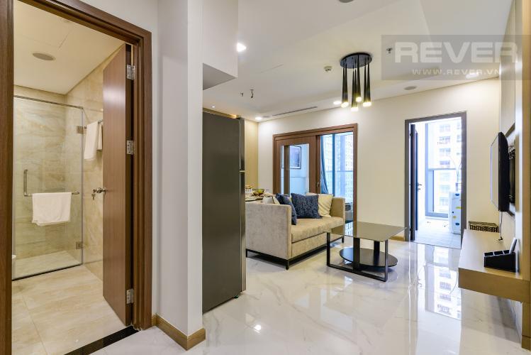Phòng Khách Căn hộ Vinhomes Central Park tầng trung, tháp Landmark 81, 1PN đầy đủ nội thất