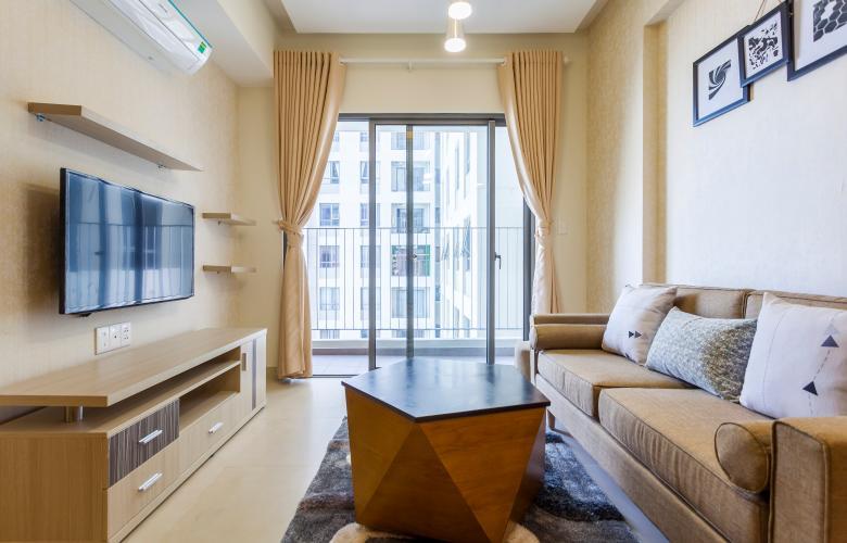 Căn hộ Masteri Thảo Điền tầng cao T2, diện tích 65m2 gồm 2 phòng ng, đầy đủ nội thất, view nội khu