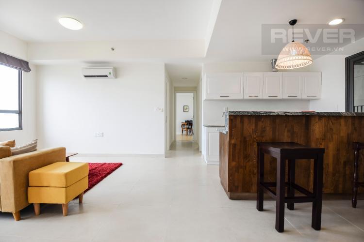 Phòng Khách Căn góc Masteri Thảo Điền 3 phòng ngủ tầng cao T1 nội thất đầy đủ