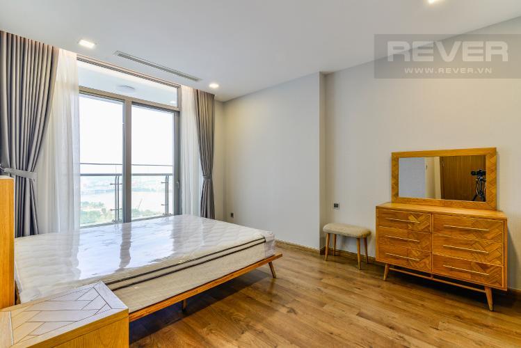 Phòng Ngủ 1 Cho thuê căn hộ Vinhomes Central Park tầng cao 3PN nội thất đầy đủ, view sông