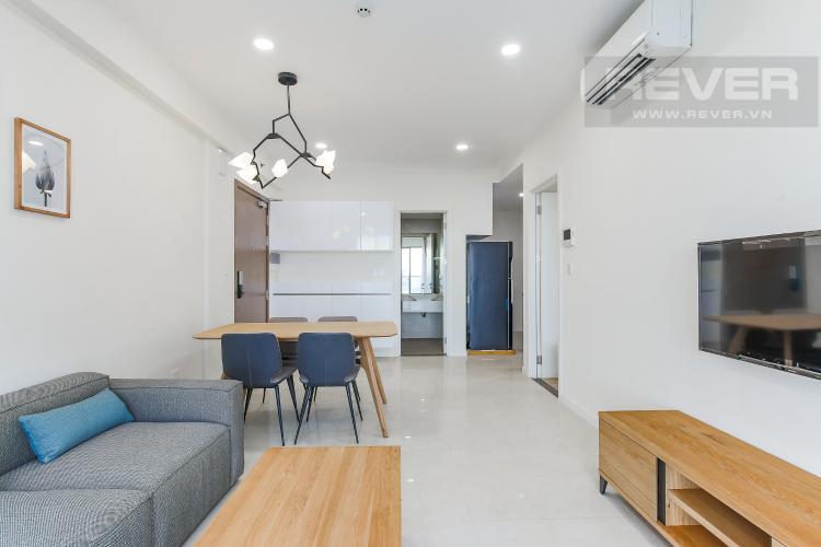 Phòng Khách Căn hộ Masteri Millennium tầng cao block B, 2PN, nội thất đầy đủ, view kênh