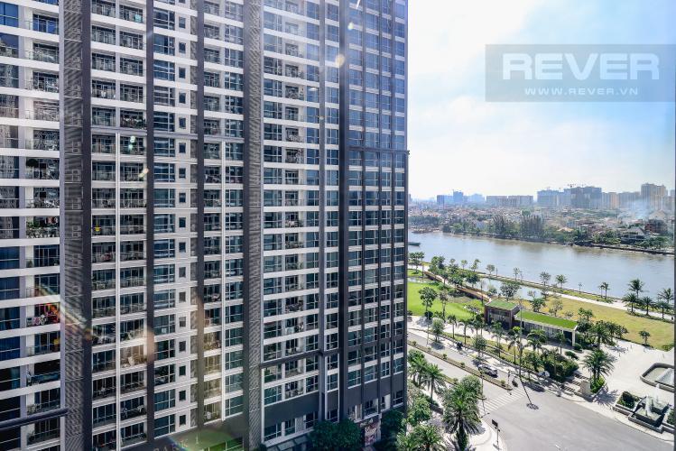 View Phòng Ngủ Căn hộ Vinhomes Central Park 3 phòng ngủ tầng trung C1 view sông