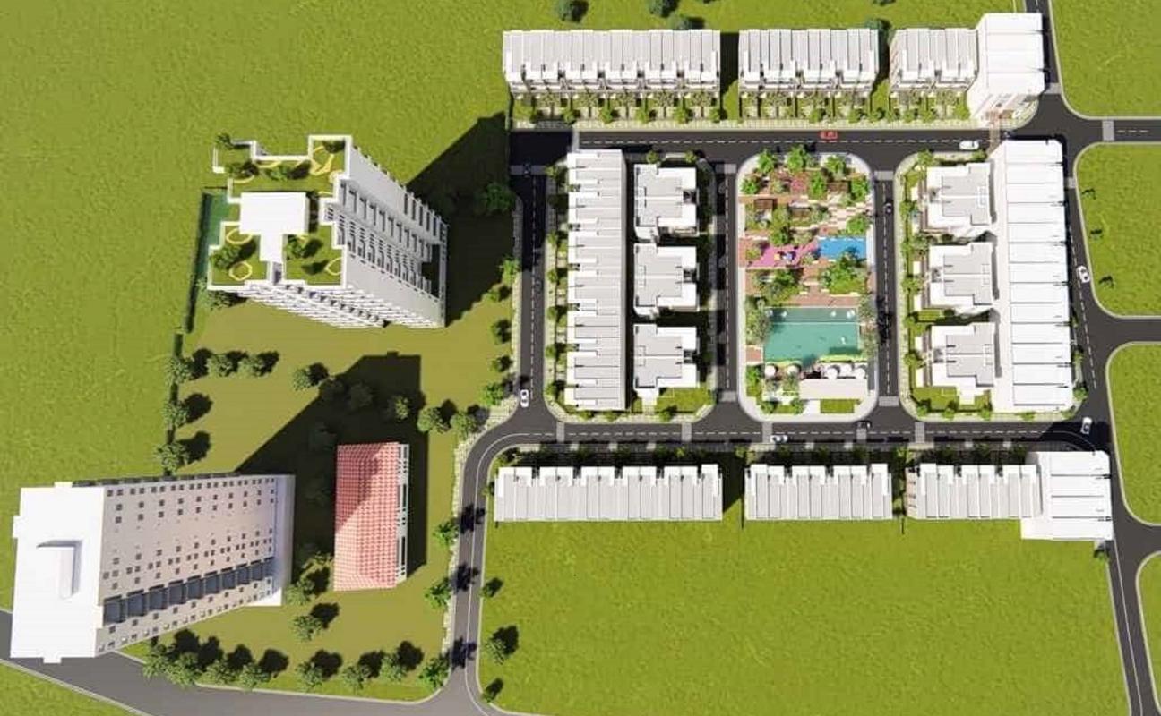 shophouse-PAX-RESIDENCE Bán căn góc shophouse dự án Pax Residence, 3 tầng, đường lớn 12m, đối diện trường quốc tế Mỹ AIS Nhà Bè
