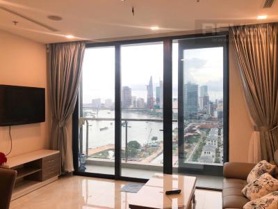 Bán căn hộ Vinhomes Golden River 2PN, tháp The Aqua 4, đầy đủ nội thất, view sông và thành phố