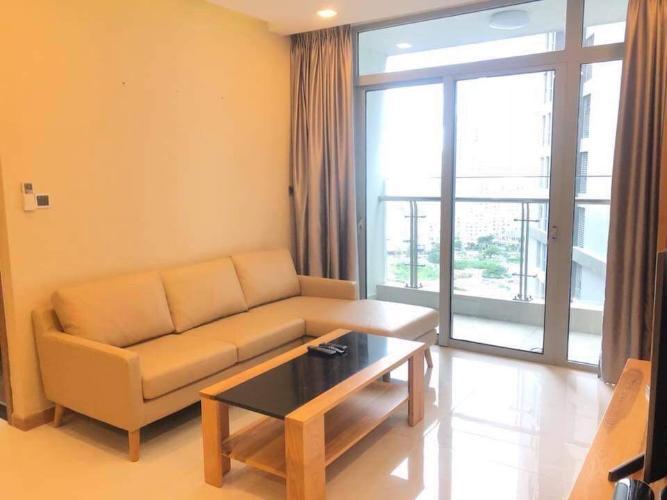 Phòng khách căn hộ Vinhomes Central Park Cho thuê căn hộ Vinhomes Central Park 3PN, tháp Park 1, diện tích 111m2, đầy đủ nội thất
