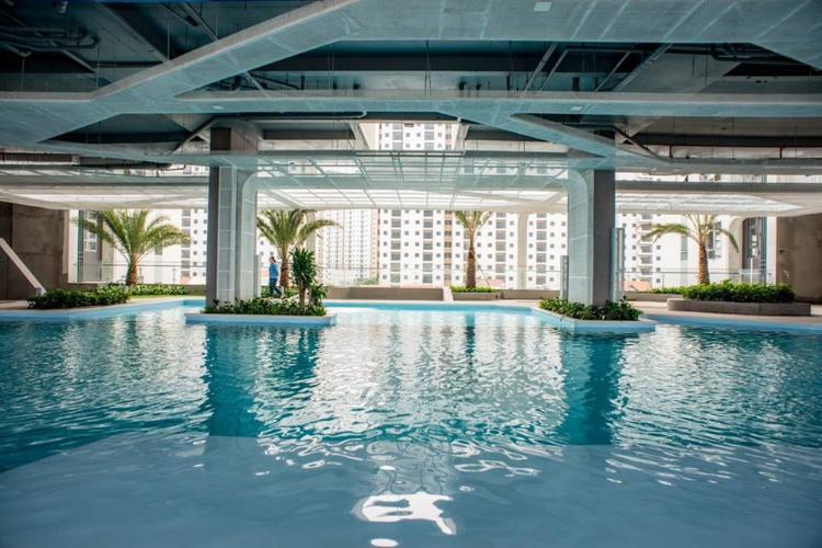 Hồ bơi De Capella, Quận 2 Căn hộ tầng trung De Capella đầy đủ nội thất, 2 phòng ngủ.