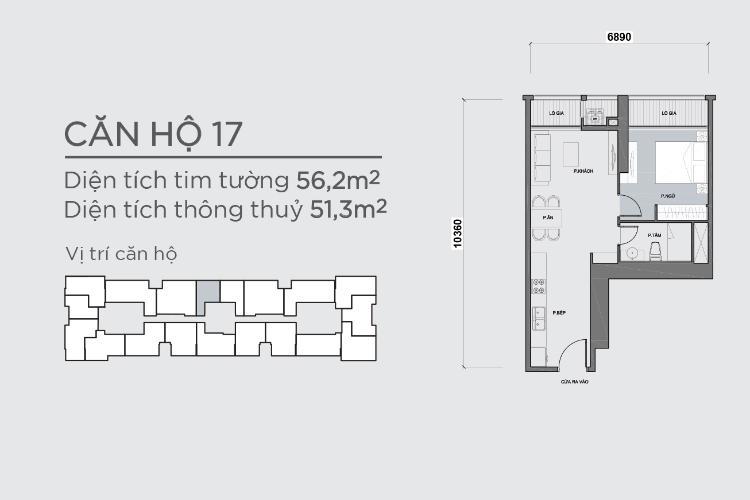 Căn hộ 1 phòng ngủ Căn hộ Vinhomes Central Park 1 phòng ngủ tầng cao P7 view sông