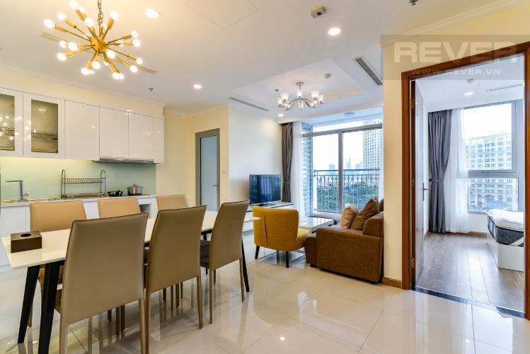 Phòng Khách Bán căn hộ Vinhomes Central Park tầng cao, 2PN, đầy đủ nội thất
