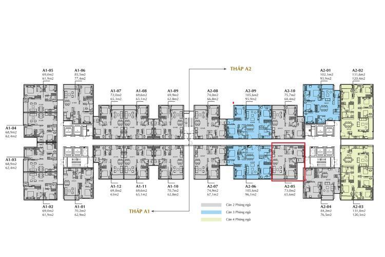 Layout căn hộ Sunshine City Saigon Căn hộ Sunshine City Sài Gòn tầng thấp, nội thất cơ bản.