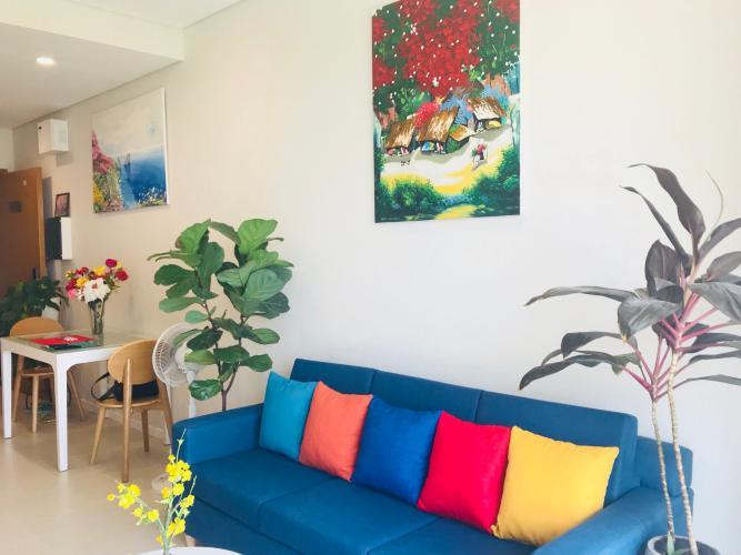 Phòng khách căn hộ Diamond Island - Đảo Kim Cương Cho thuê căn hộ Diamond Island - Đảo Kim Cương 1PN, đầy đủ nội thất, view nội khu yên tĩnh