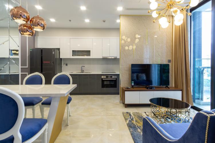 Không gian căn hộ vinhomes Golden River , Quận 1 Căn hộ Vinhomes Golden River ban công hướng Đông Bắc, view nội khu.