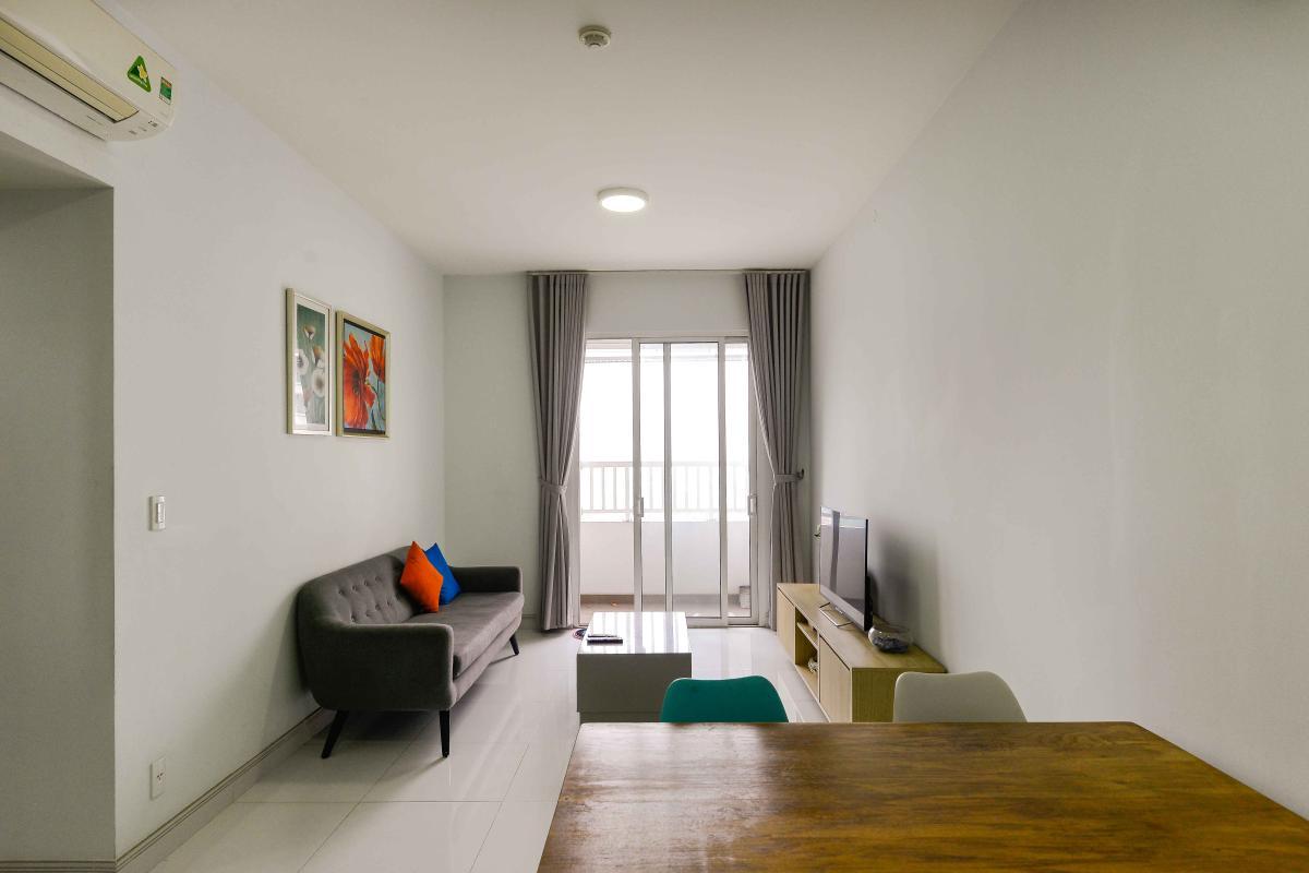 Phòng khách 1 Cho thuê căn hộ Lexington Residence 2PN, tầng thấp, đầy đủ nội thất, view đại lộ Mai Chí Thọ